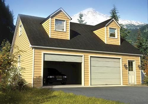 two car cape cod garage building plans only at menards