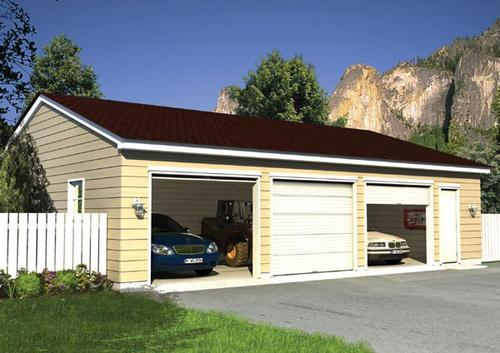 Eave entry garage building plans only at menards for Building a garage apartment