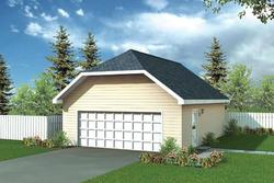 Two-Car 24' Gable Garage - Building Plans Only