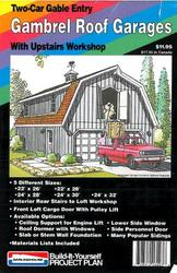 Gambrel Roof Garages Plan - Building Plans Only