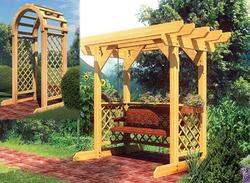 Swing and Arched Arbor - Building Plans Only