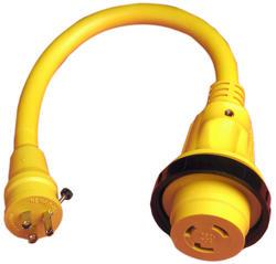 15-Amp to 30-Amp Locking Adaptor