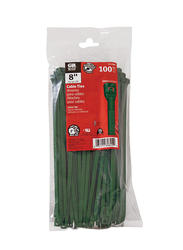 "8"" Green Cable Tie (100/Bag)"