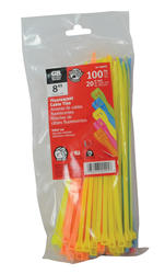 "8"" Cable Ties (Assorted Colors) - 100/Bag"