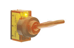 Amber Lighted Toggle Switch
