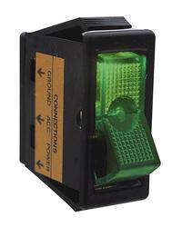 Green Lighted Rocker Switch