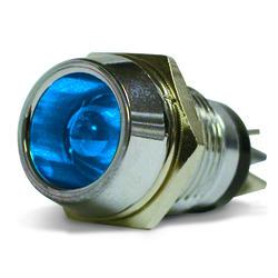 Blue, L.E.D. Chrome Indicator Lamp