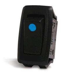 Blue LED Illuminated Dot Rocker Switch
