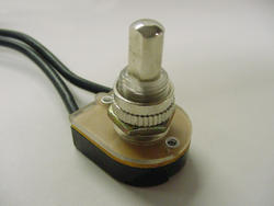 Nickel On-Off Push Button Switch (10/Box)