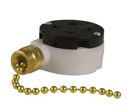 OFF-ON-ON-ON 2-Circuit Ceiling Fan Speed Pull Chain Switch