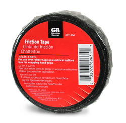 "3/4"" Black Friction-Coated Fabric Tape 30 Foot Length"