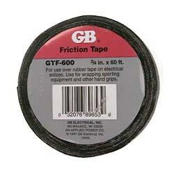 "3/4"" Black Friction Coated Fabric Tape 60 Foot Length"