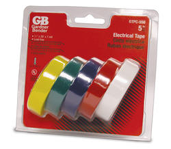 1/2 inch x 20' Assorted Color Tape (5 Pack)
