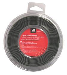 "1/4"" Black Heat Shrink Tube, 8 Foot Length"