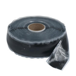 "1"" x 36' Black Silicone Self-Sealing Tape"
