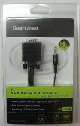 10' VGA Audio Video Cable with 3.5 mm Line Out
