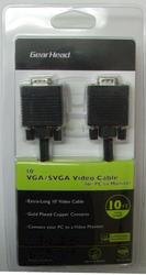 10' Standard VGA/SVGA Video Cable for PC to Monitor