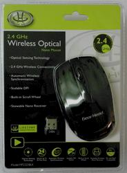2.4 GHz Black Wireless Optical Mouse