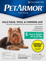 PetArmor® Flea and Tick Protection for Dogs 1-22 lb. - 3 ct.