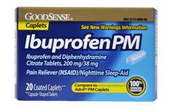 GoodSense® Ibuprofen PM Coated Caplets - 20 ct.