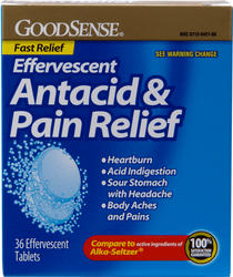 GoodSense® Effervescent Antacid and Pain Relief - 36 ct.