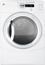 GE® 7.5 cu. ft. White Electric Frontload Dryer with Stainless Steel Tub and Steam