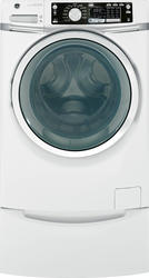 GE® 4.5 cu. ft. DOE White and Chrome ENERGY STAR Front Load Washer