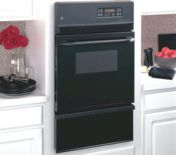 "GE® 24"" Black Gas Built-In Single 2.8 cu. ft. Wall Oven"