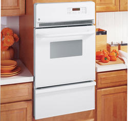 "GE® 24"" White Gas Built-In Single 2.8 cu. ft. Wall Oven"