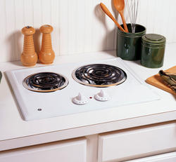 "GE® 21"" White Electric Built-In 2-Burner Coil Cooktop"