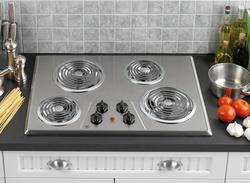 "GE® 30"" Electric Built-In 4-Burner Coil Cooktop"
