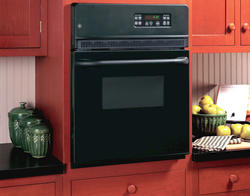 """GE® 24"""" Black Electric Built-In Single Self-Cleaning 2.7 cu. ft. Wall Oven"""