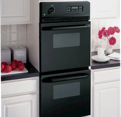 "GE® 24"" Black Electric Built-In Double 2.7 cu. ft. Wall Ovens"