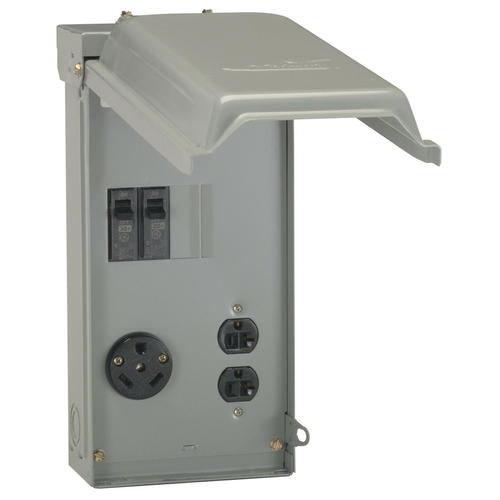 Ge 30 Amp Outdoor Power Outlet Box For Rv At Menards