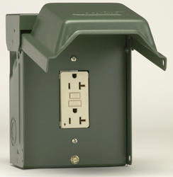 GE 20-Amp Outdoor Backyard Outlet with GFI Receptacle