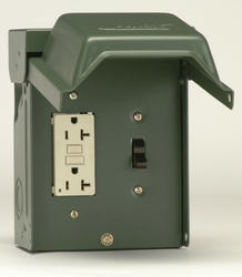 GE 20-Amp Outdoor Backyard Outlet with Switch and GFI Receptacle