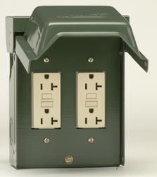 GE Backyard Outlet with 2 20-Amp Outdoor Ground Fault Receptacles