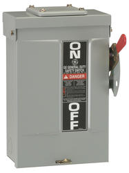 GE 30-Amp Outdoor Single Throw Safety Switch