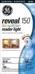 GE 150 Watt Reveal® for Reading Light Bulb