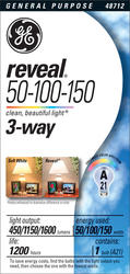GE 3-Way 50/100/150 Watt Reveal® Light Bulb