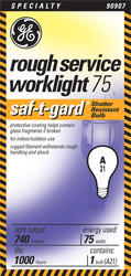 GE 75 Watt Saf-T-Gard Ruff Light Bulb