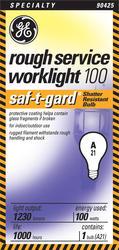 GE 100 Watt Saf-T-Gard Ruff Light Bulb