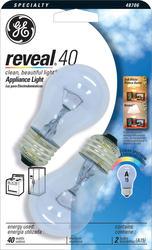 GE 40 Watt Clear Reveal® Appliance Light Bulb (2-Pack)