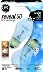 GE 60 Watt Clear Reveal® A15 Fan Light Bulb (2-Pack)