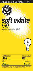 GE 150 Watt Soft White Light Bulb