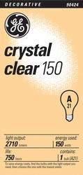 GE 150 Watt Crystal Clear Light Bulb