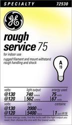 GE 75 Watt 130 Volt Rough Service Light Bulb