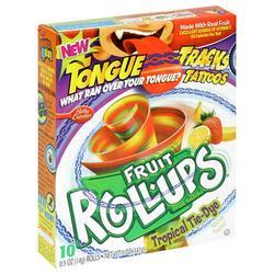 Fruit Roll-Ups Tropical Tie-Dye Fruit Snacks - 10-ct