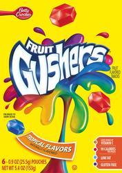 Betty Crocker Gushers Tropical Flavors Fruit Snacks - 6-ct