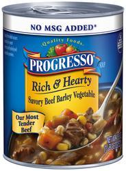 Progresso Rich & Hearty Savory Beef Barley Vegetable Soup - 18.6 oz